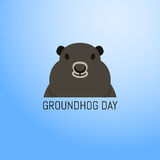 Groundhog Day February 2nd vector illustration Stock Images