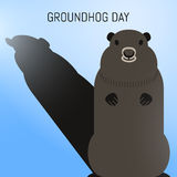 Groundhog Day February 2nd vector illustration Stock Photo