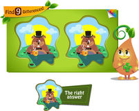 Groundhog day game 9 differences Royalty Free Stock Photo
