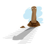 Groundhog Day_giraffe Stock Image