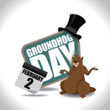 Groundhog Day icon on white Stock Photography