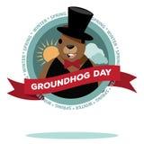 Groundhog Day-Ikonendesign Stockbild