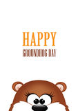Groundhog day. Marmot on white background Royalty Free Stock Photos
