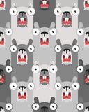 Groundhog Day pattern seamless. marmot background. woodchuck ornament vector illustration