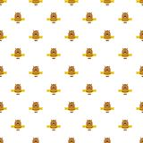 Groundhog day pattern seamless vector stock illustration