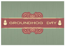 Groundhog day postcard Stock Images
