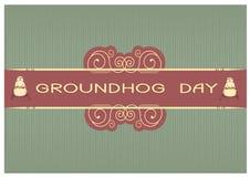 Groundhog day postcard Stock Images