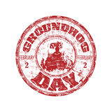 Groundhog day rubber stamp stock illustration