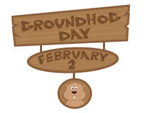 Groundhog Day Sign Royalty Free Stock Photos
