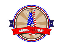 Groundhog Day stempel Stockbilder