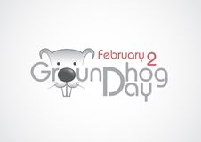 Groundhog Day, Text. Stockfoto