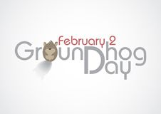 Groundhog Day, Text. Royalty Free Stock Photo