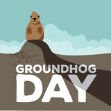 Groundhog Day type and shadow design Stock Images