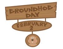 Groundhog Day-Zeichen Lizenzfreie Stockfotos