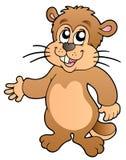 Groundhog del fumetto Immagine Stock