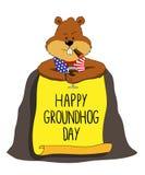 groundhog Dia de Groundhog feliz Imagens de Stock