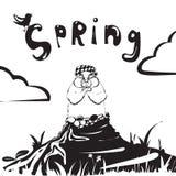Groundhog dnia śmieszny postać z kreskówki świstak również zwrócić corel ilustracji wektora Obraz Stock