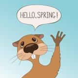 Groundhog dnia kartka z pozdrowieniami Zdjęcie Royalty Free