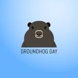 Groundhog dnia Luty 2nd wektorowa ilustracja Obrazy Stock