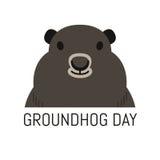 Groundhog dnia Luty 2nd wektorowa ilustracja Fotografia Stock