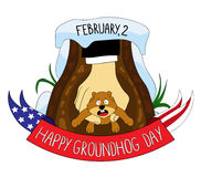 Groundhog .happy groundhog day Royalty Free Stock Image