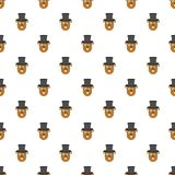 Groundhog in hat pattern seamless vector stock illustration