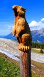 Groundhog made of wood royalty free stock photography