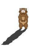 Groundhog och hans skugga Royaltyfri Foto