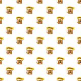 Groundhog pattern seamless vector royalty free illustration