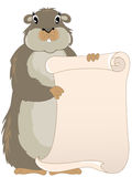 Groundhog with scroll Stock Photography