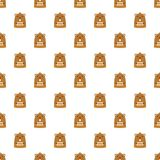 Groundhog in spring icon, flat style royalty free illustration
