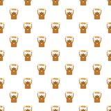 Groundhog in winter pattern seamless vector royalty free illustration