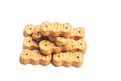 Groundnut shaped biscuit isolated in white Stock Photo