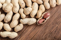 Groundnut in the skin close-up Stock Photo