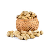Groundnuts peanut  on white background Royalty Free Stock Images