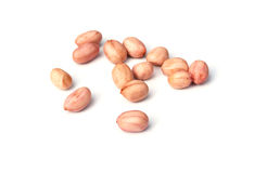 Groundnuts on a white background Stock Images