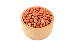 Groundnuts in wooden bowl Royalty Free Stock Photos