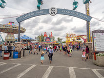 The grounds at the Calgary Stampede. CALGARY, CANADA - JULY 9:  the grounds at the Calgary Stampede on July 9, 2016 in Calgary, Alberta. The Calgary Stampede is Royalty Free Stock Images