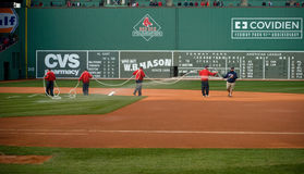 Grounds Crew at Red Sox Opening Day Stock Images