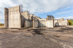 The grounds of the former construction nuclear power plant Royalty Free Stock Photo