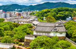 Grounds of Himeji Castle in Japan. Grounds of Himeji Castle in the Kansai region of Japan Royalty Free Stock Photos
