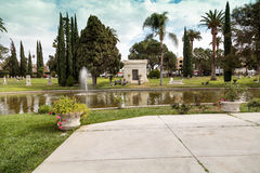 Grounds of the Hollywood Forever Cemeteray Stock Image
