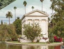 Grounds of the Hollywood Forever Cemeteray Stock Photo