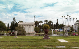 Grounds of the Hollywood Forever Cemeteray Royalty Free Stock Photos