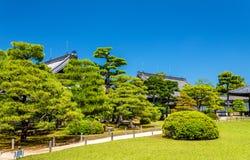 Grounds of Nijo Castle in Kyoto stock photo