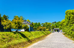 Grounds of Nijo Castle in Kyoto stock images