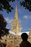 The Grounds of Norwich Cathedral Stock Image