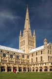 The Grounds of Norwich Cathedral Royalty Free Stock Photos