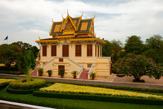 The grounds of the Royal Palace in Phnom Penh Royalty Free Stock Photo