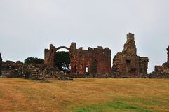 Within grounds of a ruined Priory. Royalty Free Stock Photo
